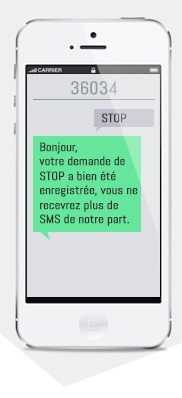 MESSAGE STOP SMS