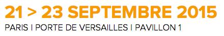 21-23 SEPTEMBRE 2015 - PARIS - PORTE DE VERSAILLES - PAVILLON 1