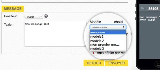choix modèle SMS