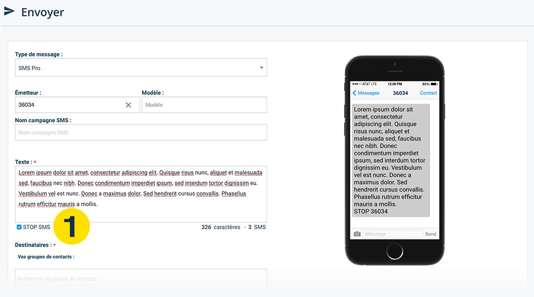 STOP SMS : moyen de désinscription aux campagnes sms