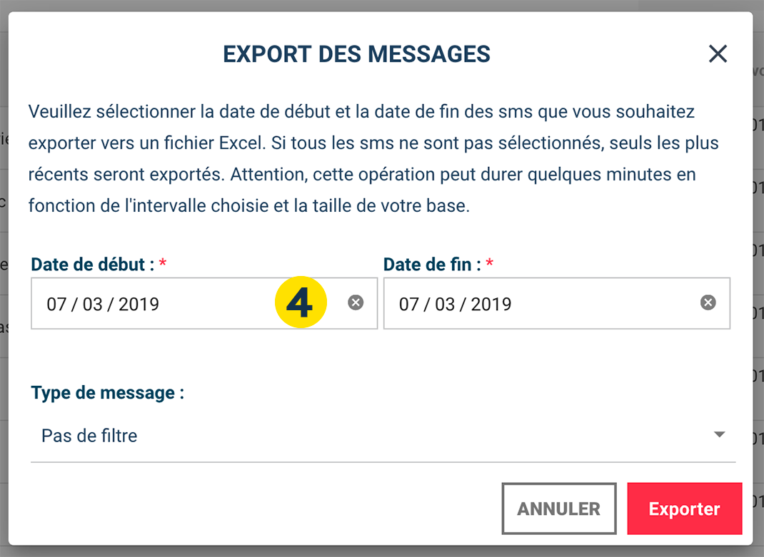 Exporting SMS Replies