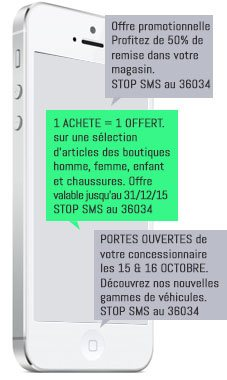 exemples de messages SMS low-cost