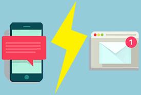 Le SMS VS l'email en quelques chiffres