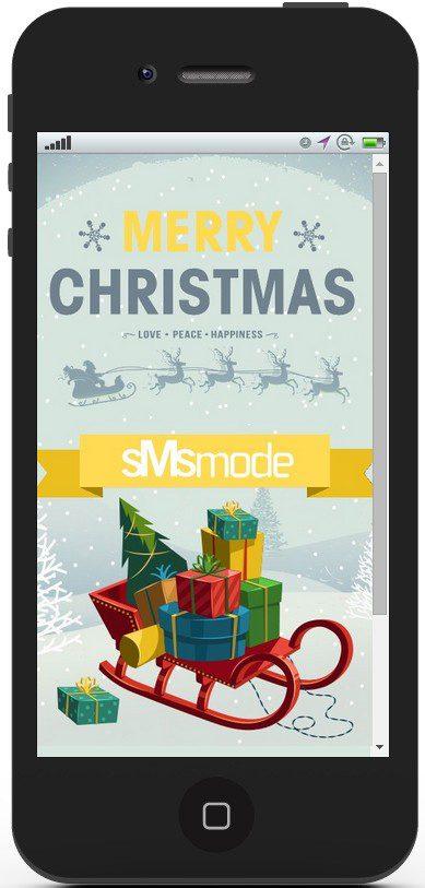 campagne mobile par SMS pour Noêl et jour de l'an