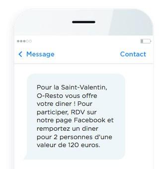 message de jeu-concours par SMS