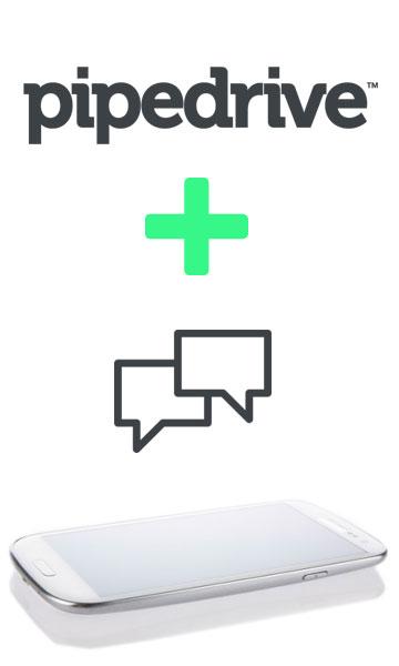 services pour intégrer l'envoi de SMS dans le CRM Pipedrive