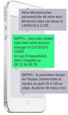 le rappel de RDV commercial via un SMS Pipedrive